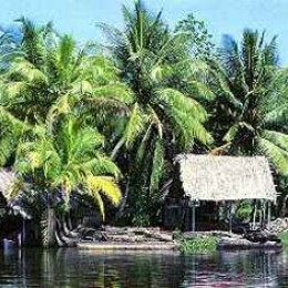 Small fishing village in Costa Rica